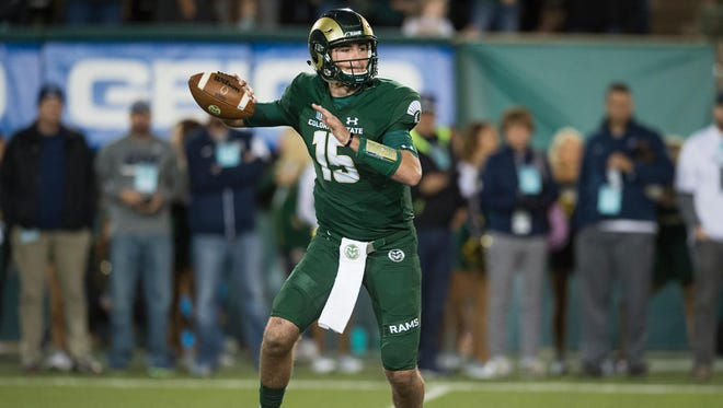 Collin Hill, who won CSU's starting quarterback job as a true freshman last fall before suffering a torn ACL re-injured his knee and will miss at least all of spring practice.