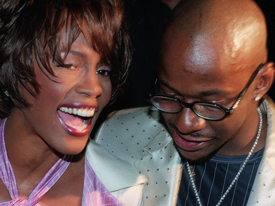 Whitney Houston and husband Bobby Brown in New York