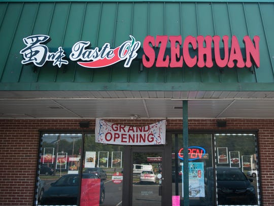 Exterior of Taste Of Szechuan in Cherry Hill.