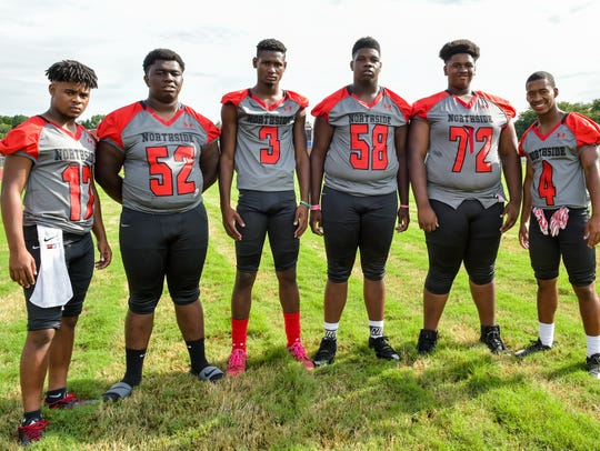Northside's offensive lineup includes (from left) Theo