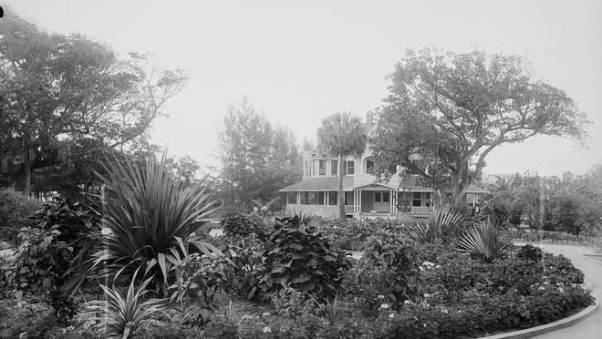A view of part of the Garden of Eden, showing the home of Charles and Frances Cragin.