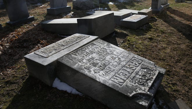 More than a dozen headstones were vandalized at Waad Hakolel Cemetery, also called Stone Road Cemetery, in northwest Rochester. Gov. Andrew Cuomo has called on State Police to investigate the vandalism as a hate crime.