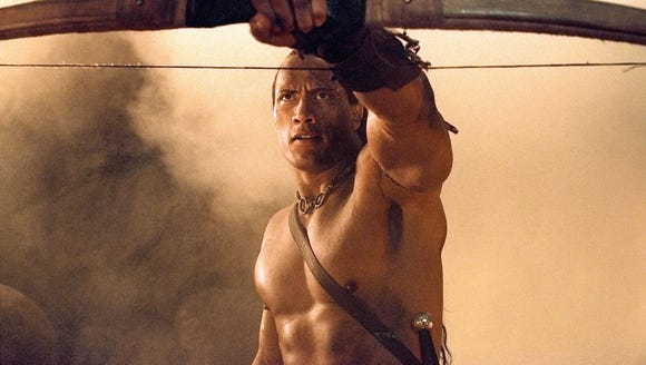 Dwayne Johnson's first starring role was as the warrior Mathayus in ''The Scorpion King.""