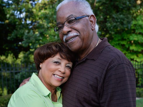 Roscoe McCall and his his wife, Geri, in Peoria, Ill. The couple have been married for 49 years.