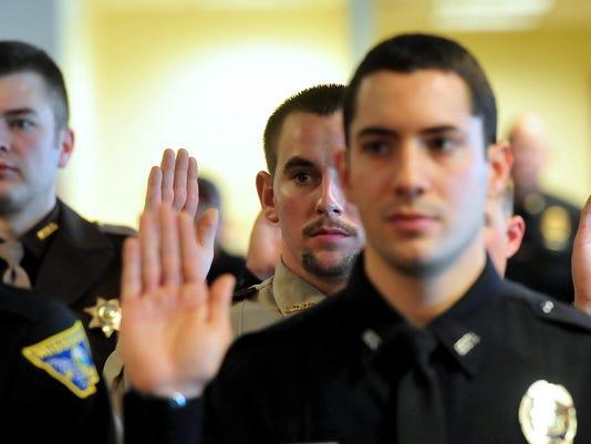 Officers taking oath