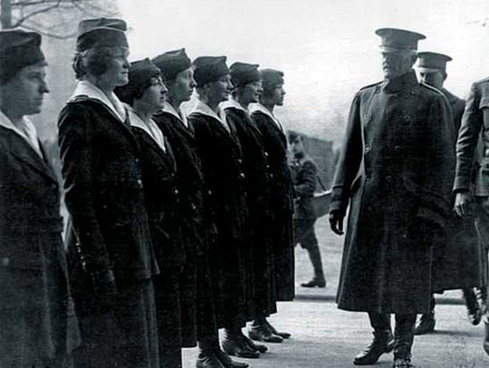 Gen. John Pershing, commander of the American Expeditionary