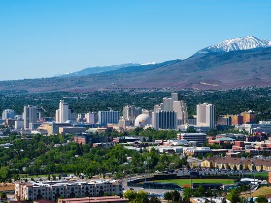 Aerial view of Reno, Nevada