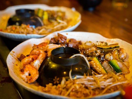 The Steak and Shrimp Combo at Katana Teppanyaki Grill,
