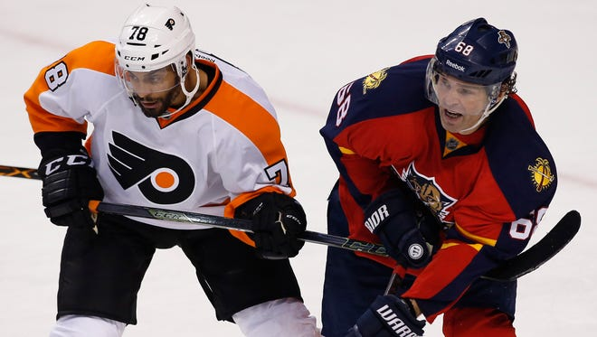 The Flyers are hoping to take a couple points away from Jaromir Jagr and the Panthers.