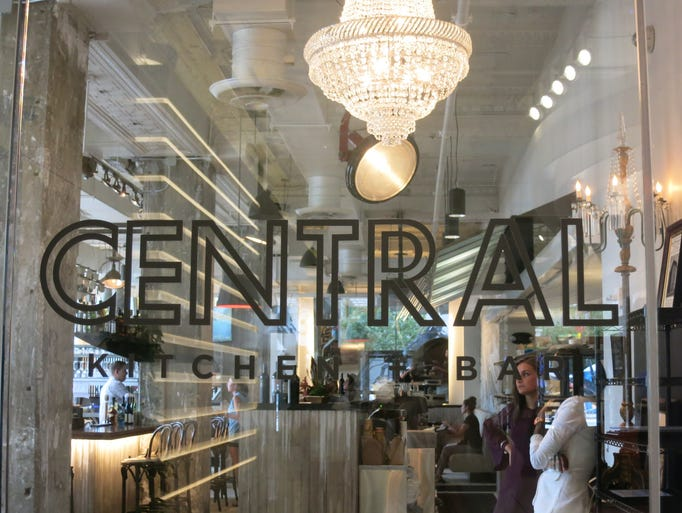 The mostly white interior of Detroit's new Central