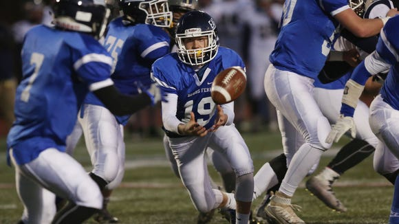 Burke Catholic defeated Dobbs Ferry 21-20 in the Class C regional semifinal football game at Mahopac High School Nov. 12, 2016