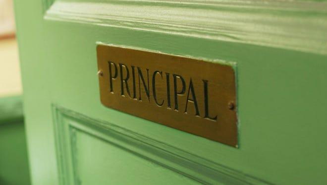 Principal's office door