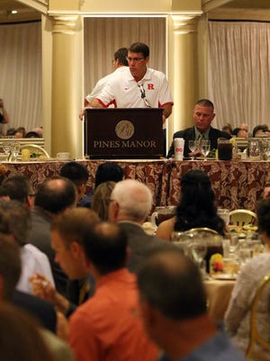 Rutgers University head football coach Chris Ash was the keynote speaker at the GMC Scholar-Athlete award banquet at the Pines Manor in Edison.