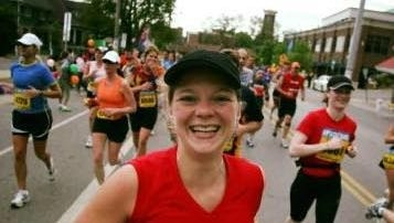 Jessica Bliss runs her second marathon - then called the Country Music Marathon - in Nashville in 2007. This year, she will Snapchat her way through her 25th (or so) half marathon.