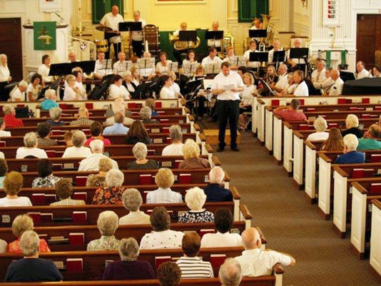 The Littlestown Band entertains the congregation at St. Paul's Lutheran Church, during a concert on Sept. 13.