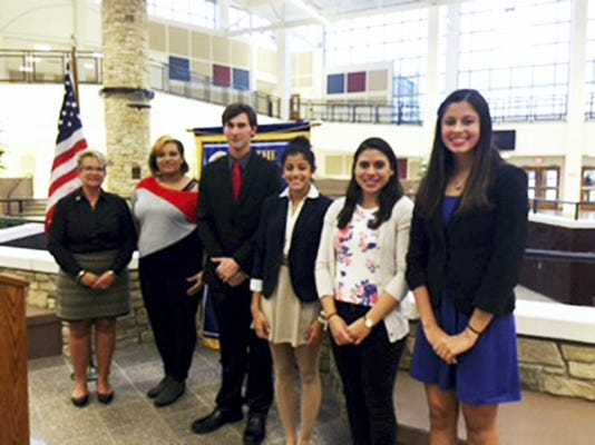 Students from Cedar Crest and Lebanon high schools recently competed in the Rotary Four-Way Speech contest at Lebanon High School. Posing for a photo after the contest are (from left) Rotary President and contest judge Ann Decker, Janessa Biddle, Chris Kellly, Mariangelys Pagan, Kiaya Sechrest and Serena Rodriguez. Photo courtesy of the Lebanon School District
