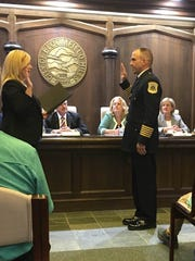 Noel Clason is sworn in as the new Public Safety Director