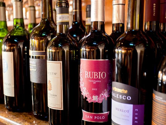 The restaurant has a wide wine selection, and co-owner Adamo Serravalle loves talking about them.