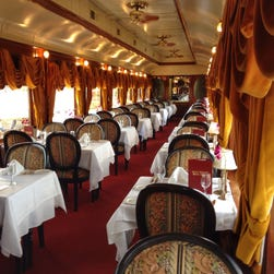 Trains offer an unforgettable dining experience