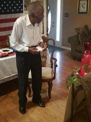 World War II veteran Wilson Robertson celebrated his