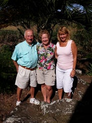 Ed, Kathy and Sue pose in the jungle of Camoapa, part