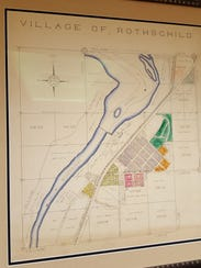 An old map of Rothschild is featured in the Village