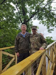 Dr. Led Klotsky and Col. Brad Wambeke of West Point