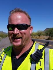 """A Daisy Mountain Fire Department captain, David """"Wade"""""""