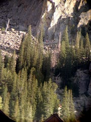 An injured climber was rescued Sunday afternoon near