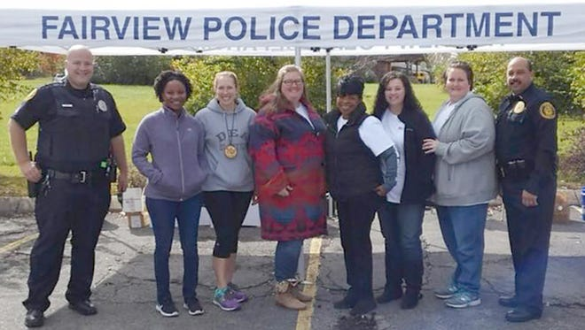 Members of the Fairview Police Department, Williamson County Health Department and Drug Enforcement Administration assist at the Drug Take Back Day in Fairview October 28, 2017.