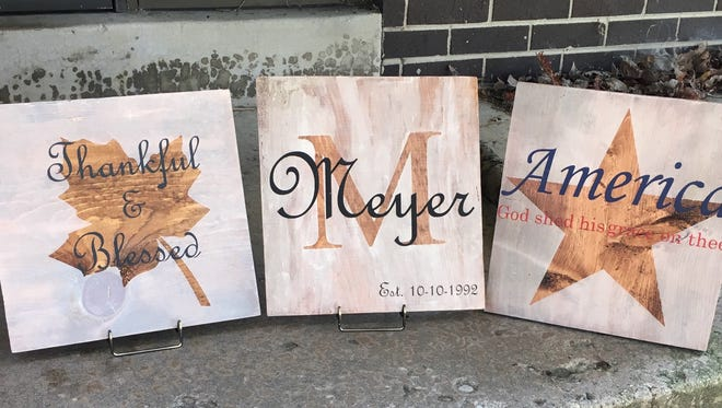 Guests at American Legion Post 382's 2nd annual Deer Hunters Widow Painting Night will get to pick from three stencils for their wooden boards.