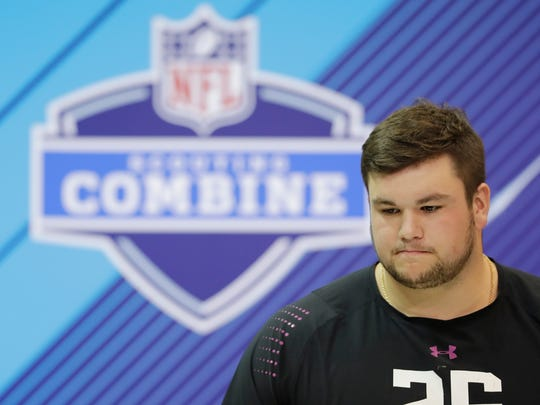 Notre Dame offensive lineman Quenton Nelson speaks