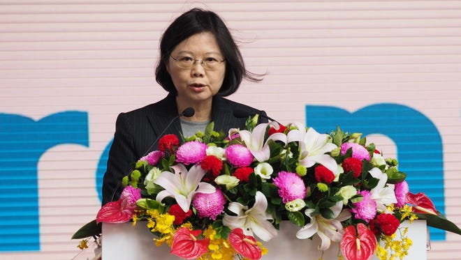 A picture made available on Dec. 20, 2016 shows Taiwanese President Tsai Ing-wen speaking at a ceremony in Taoyuan City, northern Taiwan, Dec. 12, 2016.