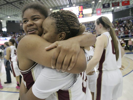 Jones and Petty as teammates at Riverdale.