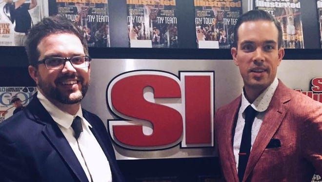 FanSided founders Adam Best, right, and Zach Best, left, pose for a photo at Sports Illustrated's office last week. Both graduated from Hillcrest High School in Springfield, and Zach lives in Nixa.