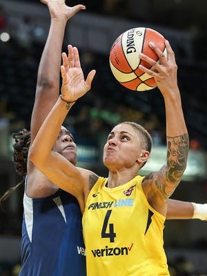 "The Fever play the Sky again on Sunday. After Saturday's loss, the Fever's Candace Dupree, shown in a game earlier this season, said,  ""We have to get out to a good start like we did tonight (and do a) better job of knocking down open shots. We had some good looks that didn't fall our way."""