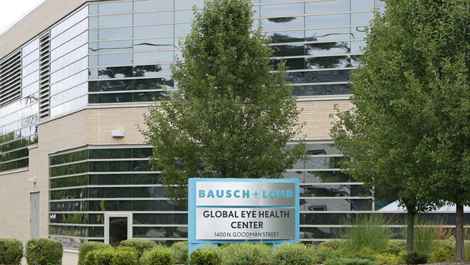 Bausch & Lomb manufacturing facility at 1400 N. Goodman St. in Rochester.