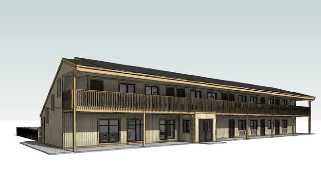 A rendering of what the new Scenic Shore Inn's new motel and conference center will look like when completed.