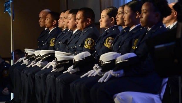 Twenty personnel who completed the Guam Custom and Quarantine Agency's 10th training academy were sworn in as new Customs officers at a ceremony held at the Hyatt Regency Guam in Tumon on Jan. 10. With the expected arrival of thousands for the Festival of Pacific Arts in May, airport Customs officers will need support to prevent delays.