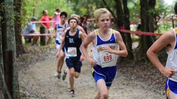 Hollis Johnson, Catholic freshman cross country runner.
