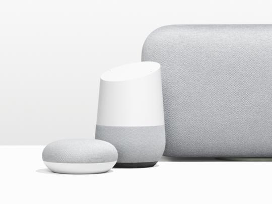 Google Home lineup of smart speakers