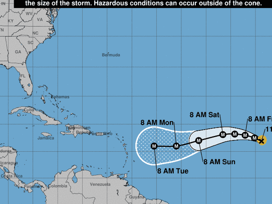 Hurricane Irma is forecast to continue moving to the