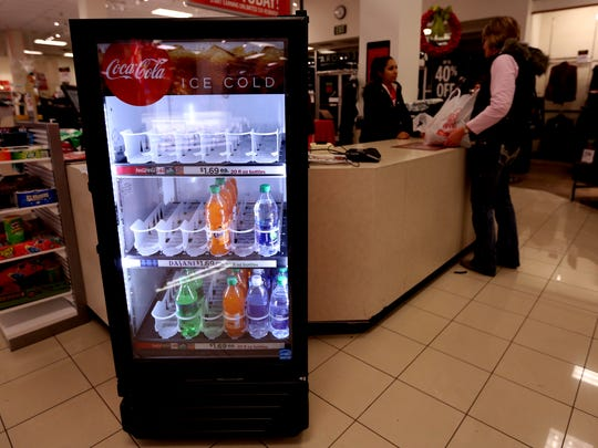 Caffeine drinks are sold out at about 5:30 a.m. near the cash register at JCPenney during Black Friday shopping at Salem Center on Friday, Nov. 25, 2016.