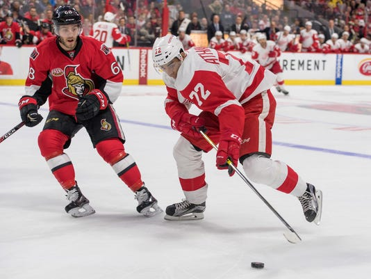 NHL: Detroit Red Wings at Ottawa Senators