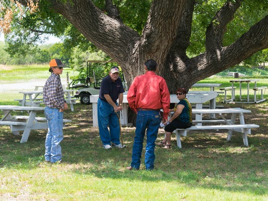 Alumni share tales and reminisce near the Spring Creek