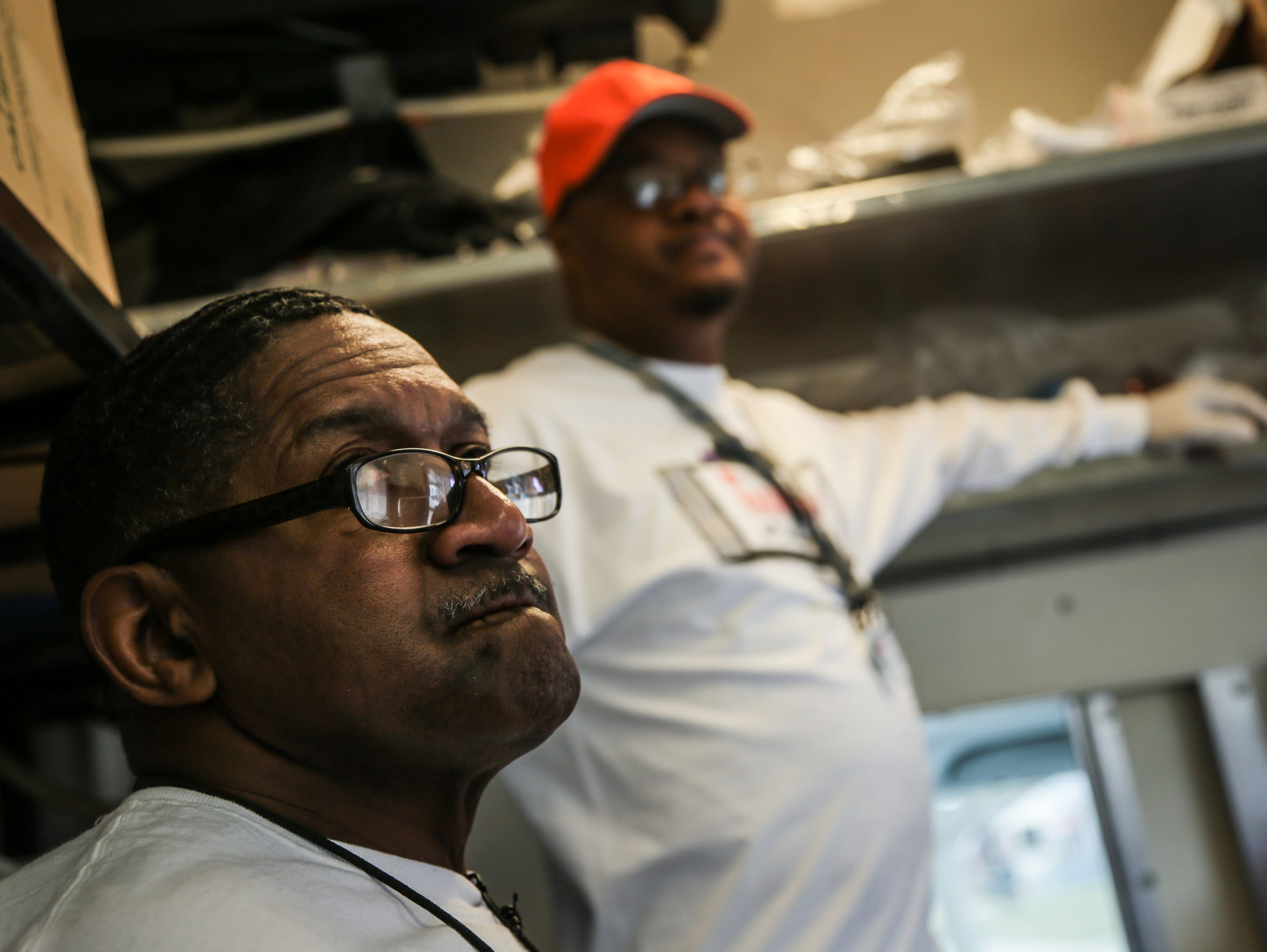 Gregory Taylor, 62, of Detroit, left, and Lanell Smith,