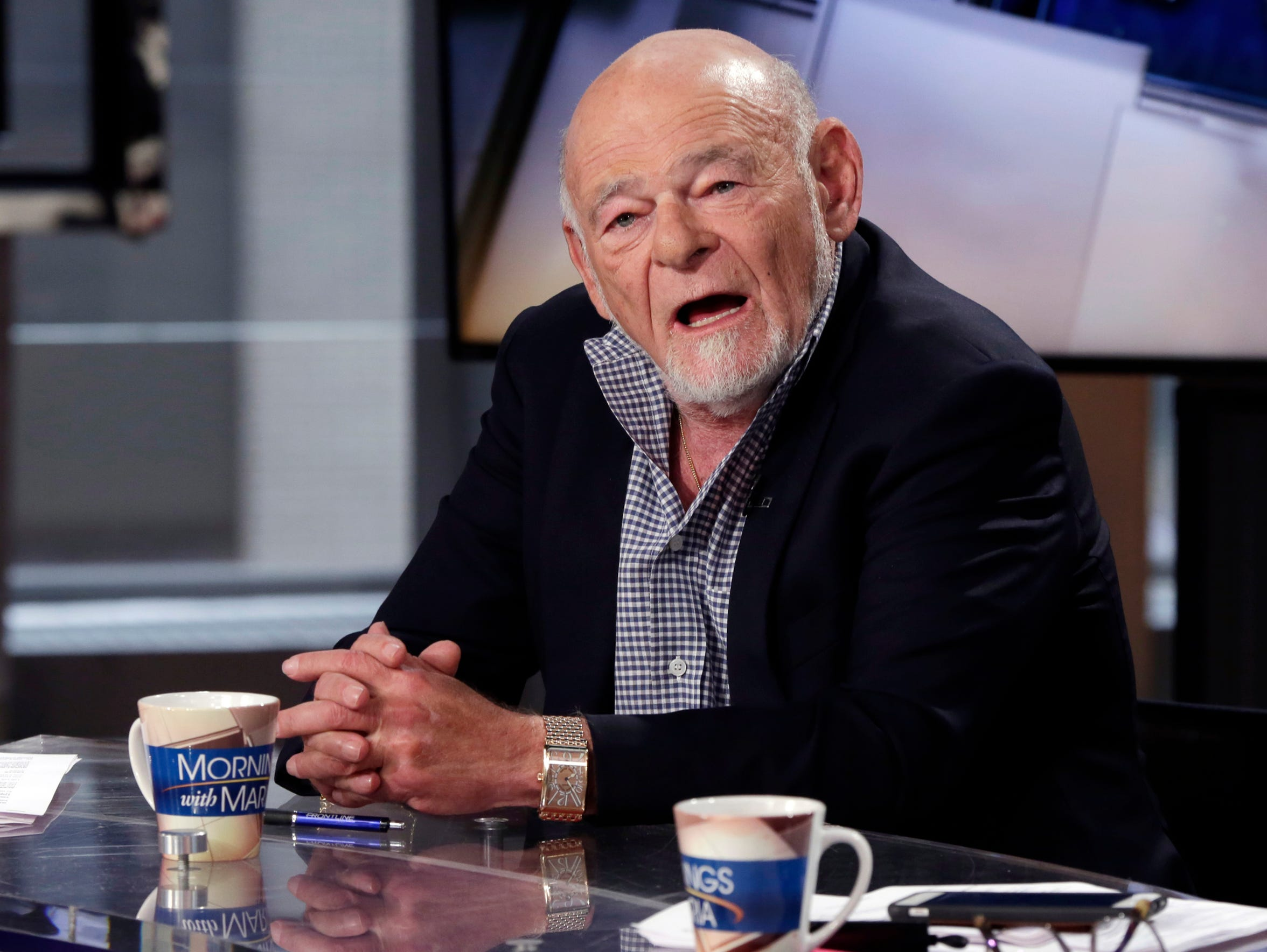Businessman Sam Zell speaks during an interview with