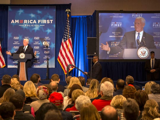 Vice President Mike Pence speaks at the Westin Book