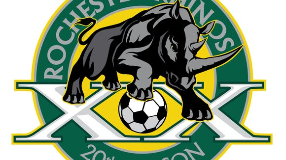 Rhinos 20th season anniversary logo