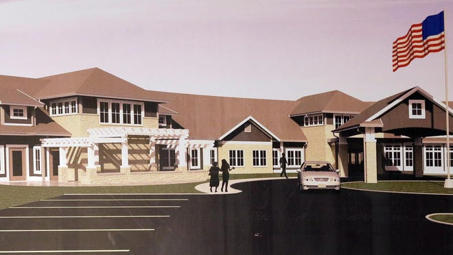 A schematic of the entrance for the new Sheboygan Senior Community facility Thursday August 20, 2015 in Sheboygan.